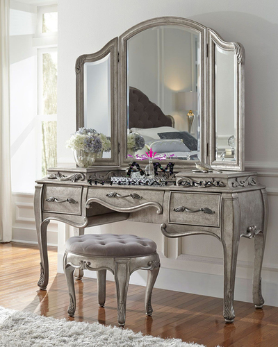 teak wood venity dressing table