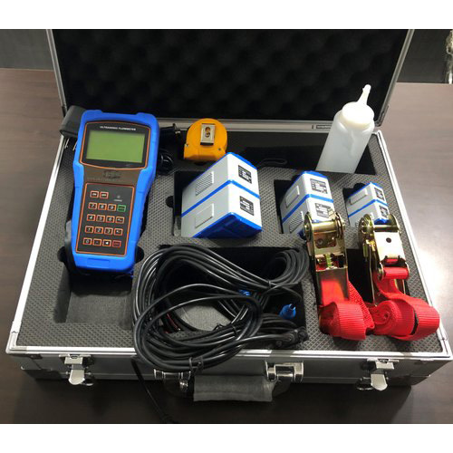 Clamp on Ultrasonic Portable Flow Meter ( Hand Held Battery Operated)