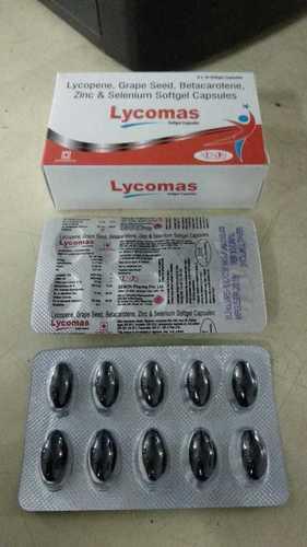 Lycopene Grape seed, Betacarotidine zinc & sulphate salenium softgel capsules