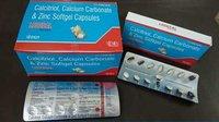 Calcitriol, Calcium Carbonate & Zinc Softgel Capsules