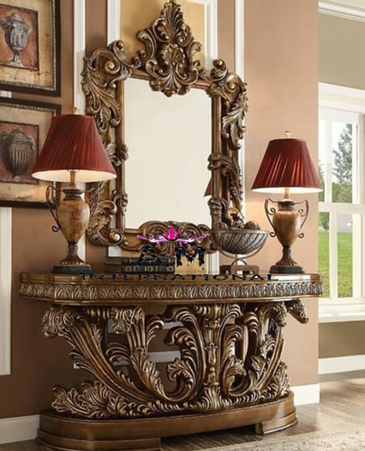 traditional style wooden dressing table