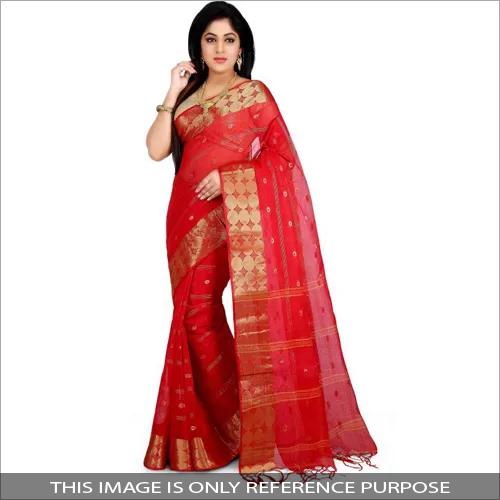 Designer Cotton Tant Saree