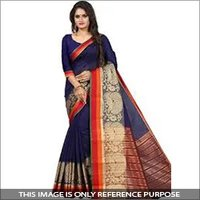 Ladies Party Wear Cotton Saree