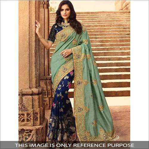 Ladies Fine Embroidery Saree