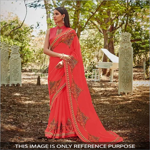 Ladies Silk Party Wear Saree