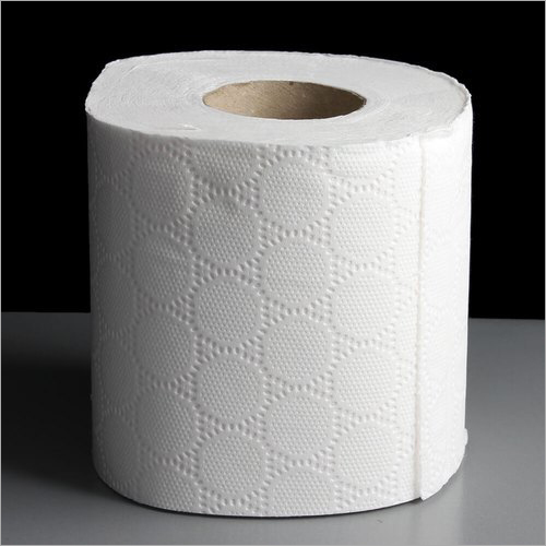 White Toilet Paper Roll