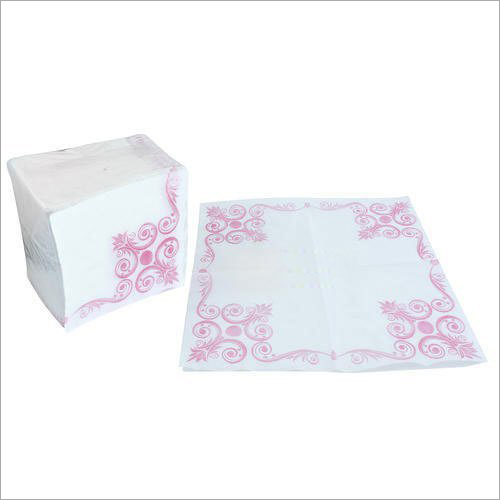 White Printed Tissue Paper