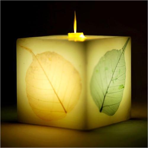 Leaf Block Candle