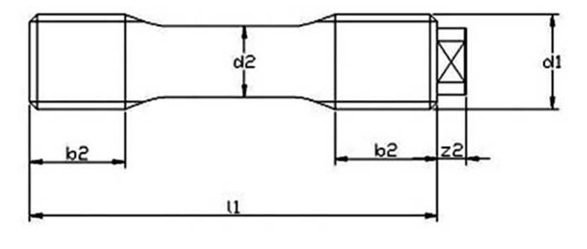 DIN 2510 Form K  Threadbars