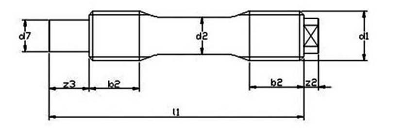 DIN 2510 Form KU  Threadbars