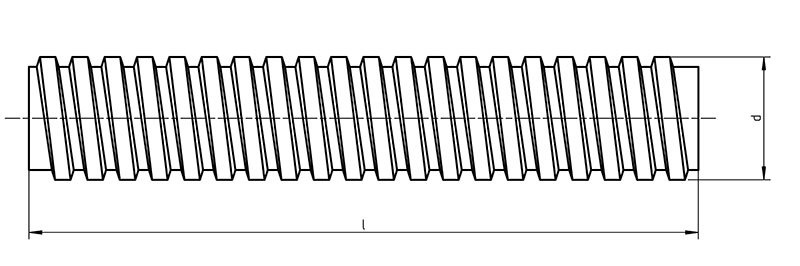 DIN 976 TR  Threaded rod trapezoidal thread