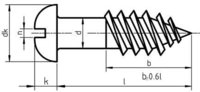 DIN 96 Slotted Round Head Wood Screw