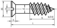 DIN 97 Countersunk Head Wood Screws