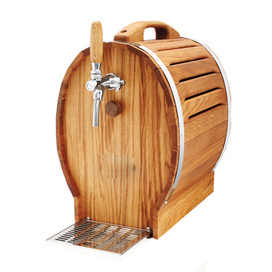 Oak Barrel 1 Tap Over Counter Beer Cooler