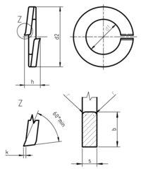 DIN 127 A Spring lock washer