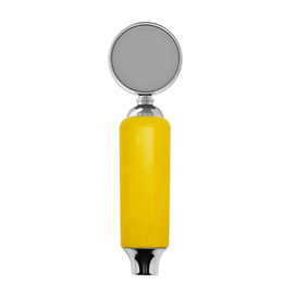 Plastic Faucet Handle With Badge Holder Yellow