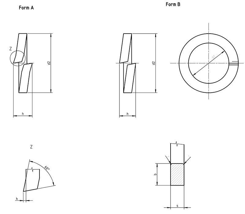DIN 127 B Spring lock washer