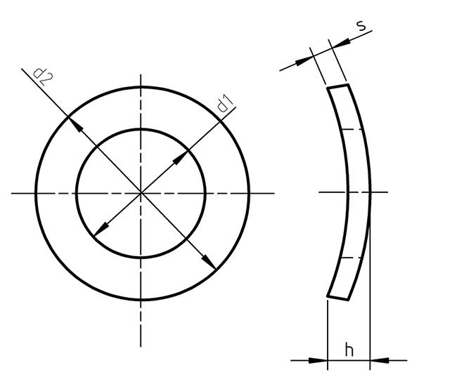 DIN 137 A Spring washers curved Form A