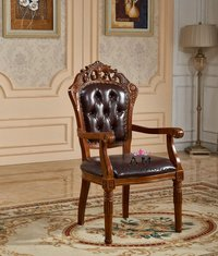 hand carved armrest chair