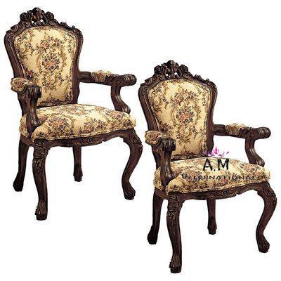 dark finish wooden chair