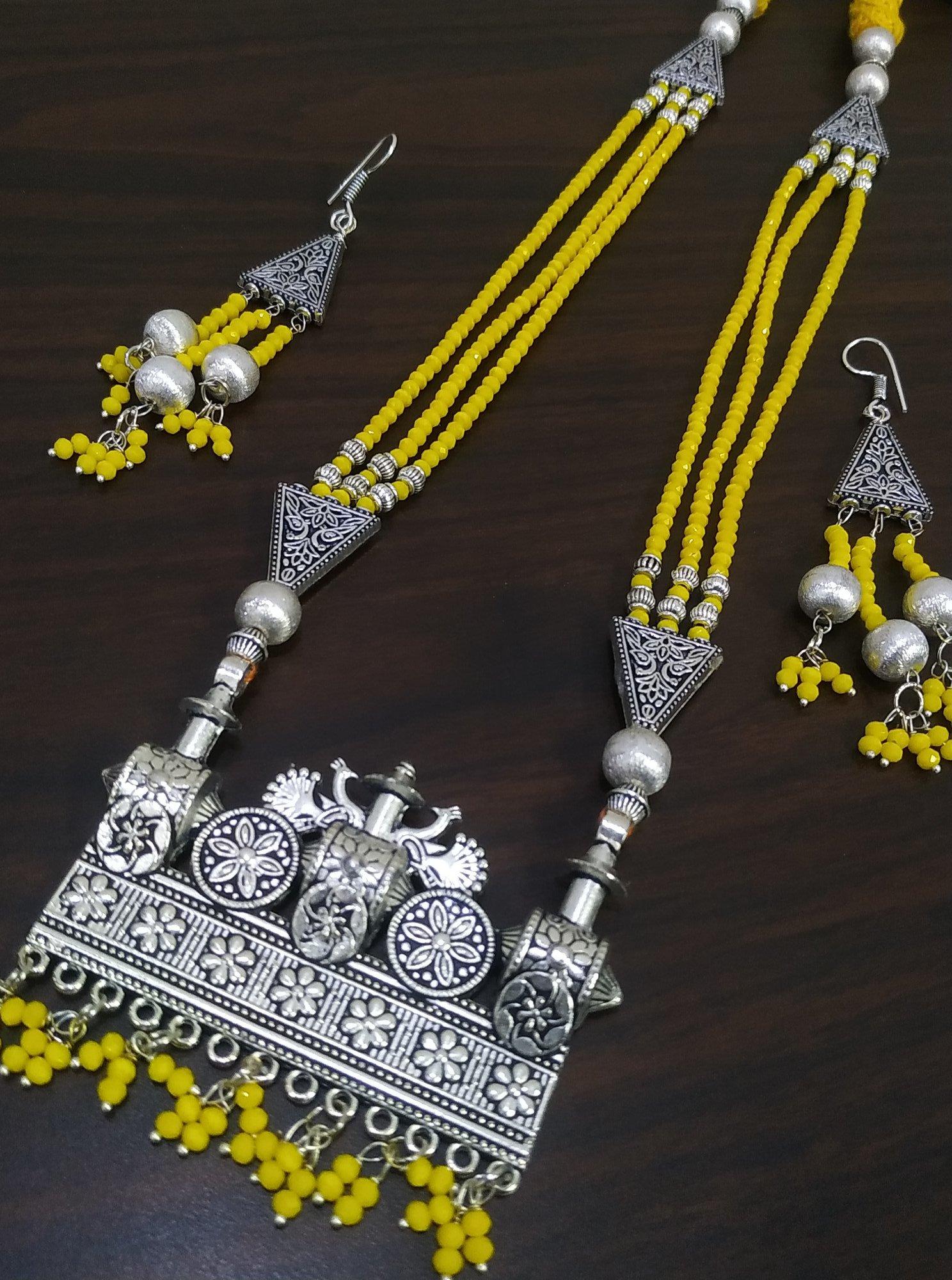 Beautiful Cut Stone Bahubali Designed Zircon Necklace Set