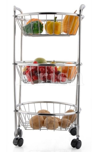 Round Trolley - 3 Tier