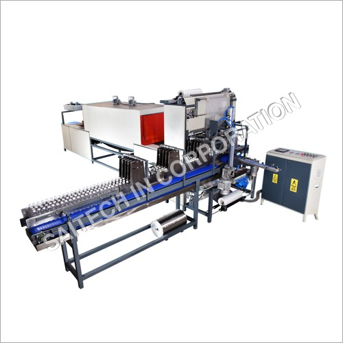 120 BPM-4 Line Semi Automatic Sleeve Wrapping Machine