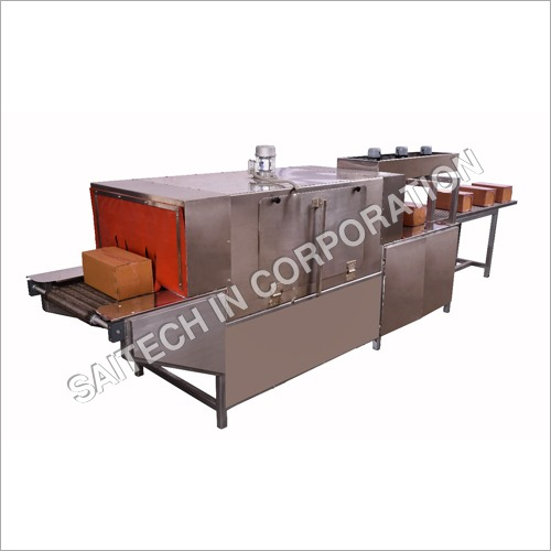 SS Shrink Tunnel Machine With SS Wire Mesh Conveyor