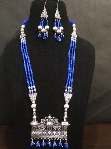 Beautifully Designed Ethnic Cut Crystal Mala Set