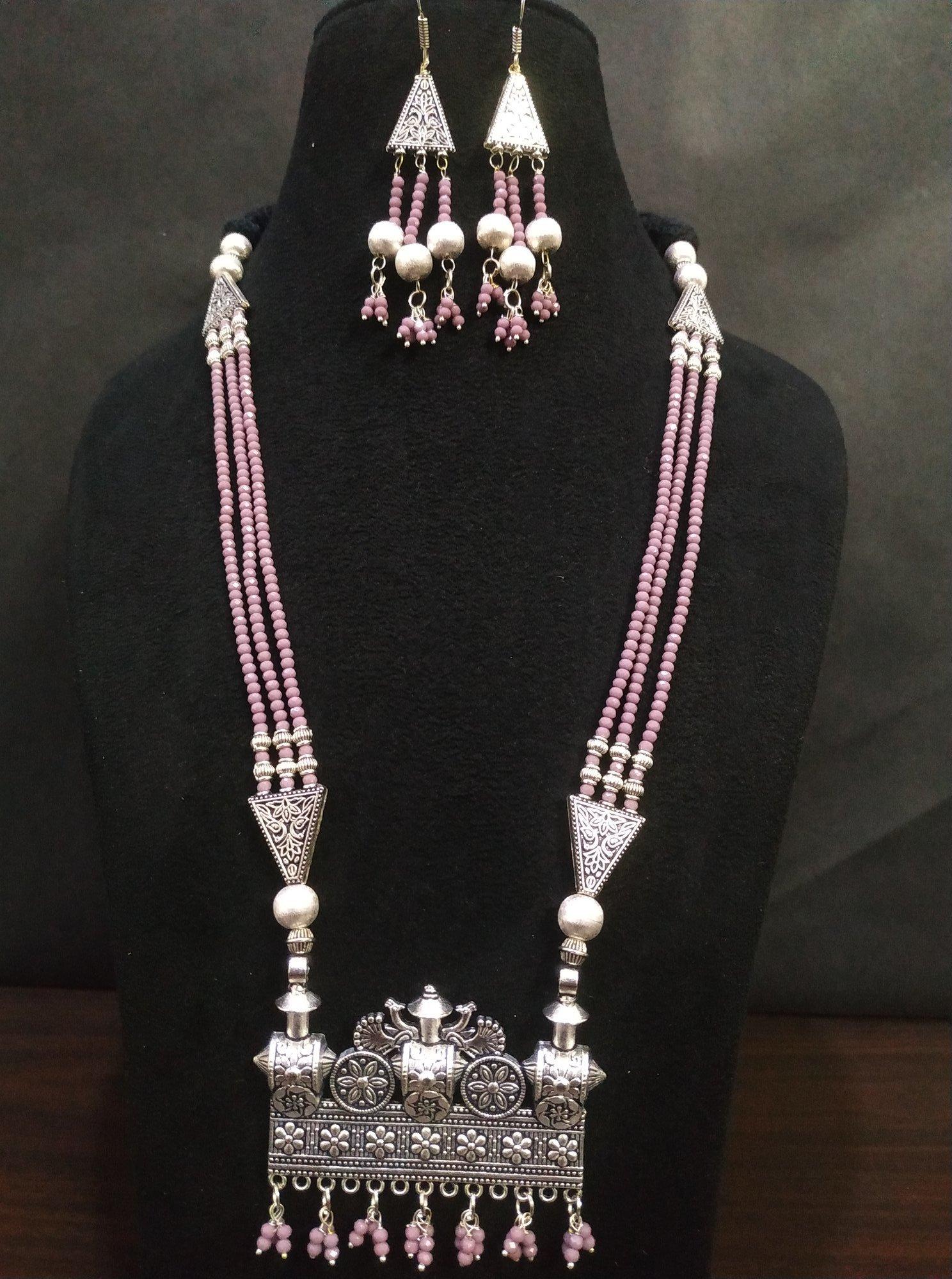 Beautifully Designed Ethnic Cut Crystal Mala Set