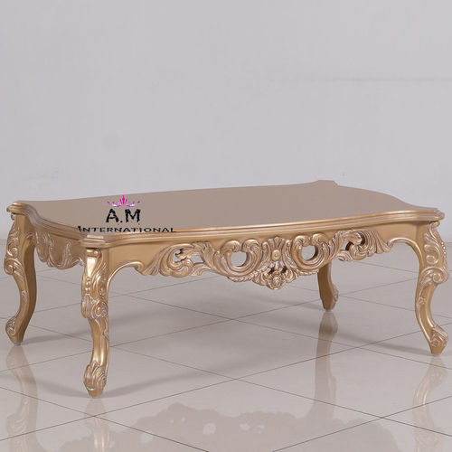 antique gold wooden table