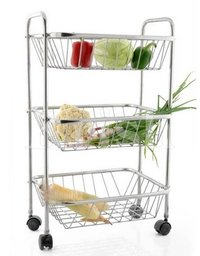 Rectangular Trolley - 3 Tier
