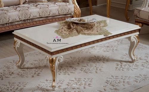 designer teak wood center table