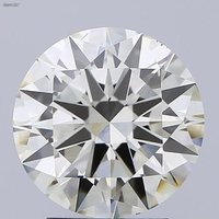 3.00ct K VS2 Round Brilliant Cut Diamond HRD Certified Stone TYPE2A