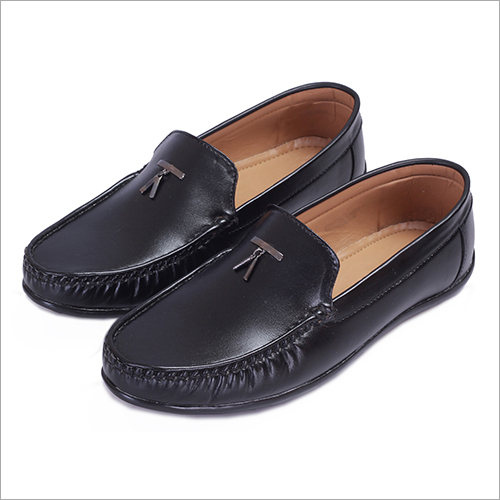 Mens Black Casual Loafers Shoes