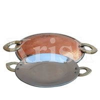 Round Serving Platter - Copper Hammered