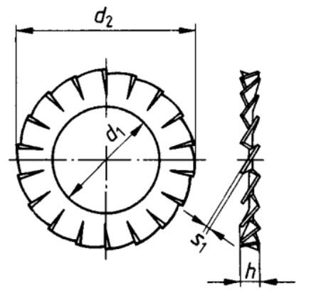 DIN 6798 A Serrated lock washer