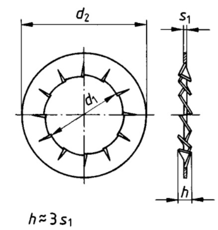 DIN 6798 J Serrated lock washer