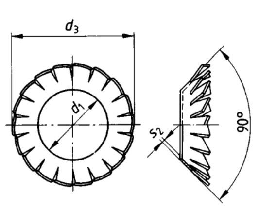 DIN 6798 V Serrated lock washer
