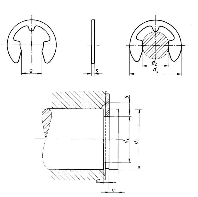 DIN 6799 Retaining washer for shafts