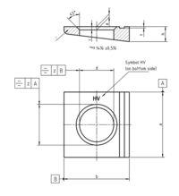 DIN 6917 Square taper washer