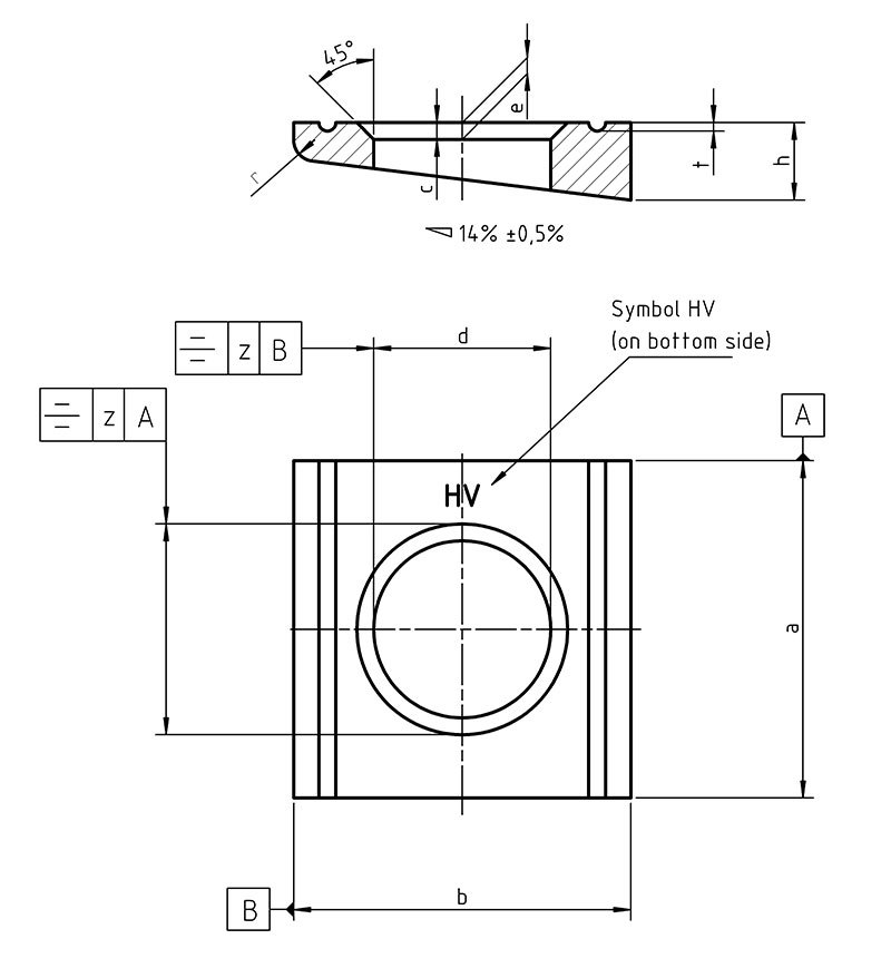 DIN 6918 Square taper washers