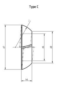 DIN 74361 C Taper flange nuts lock washers C