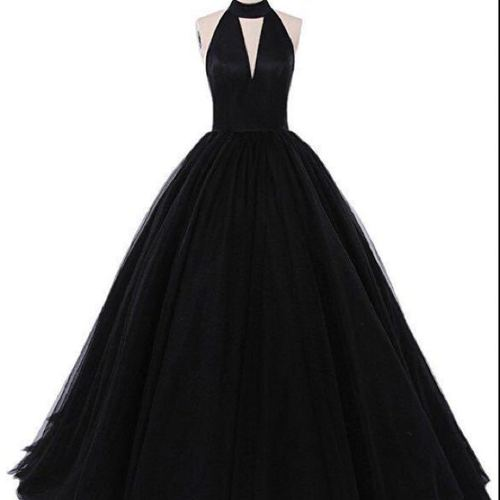 Black ball gown