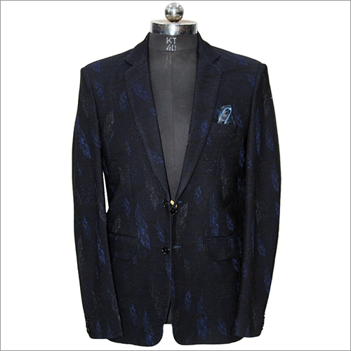 Men Slim Fit Printed Blazer
