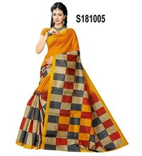 new bhagalpuri checks silk saree