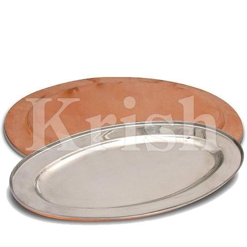 Oval Platter - copper Hammered