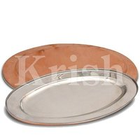 Oval Platter - copper Hammered