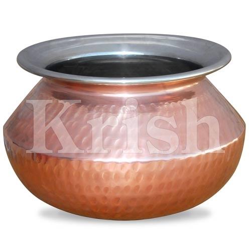 Punjabi Handi - Copper Hammered