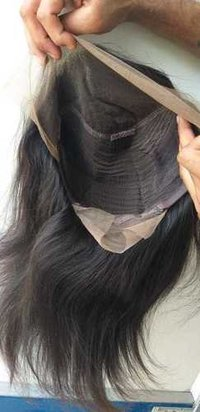 Natural Virgin Straight Front Lace wig
